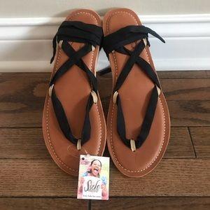 Sseko Stitched Carmel Ribbon Sandals